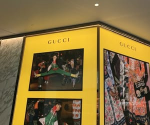 yellow, gucci, and theme image