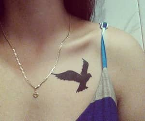 bird, tatoo, and raven image