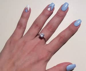 nails, short, and white image