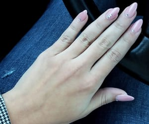nails, simple nails, and pink image