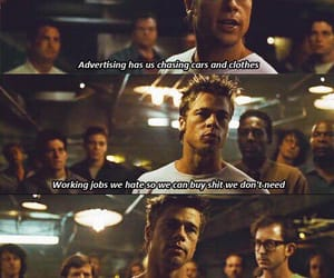 fight club, 90s, and quotes image