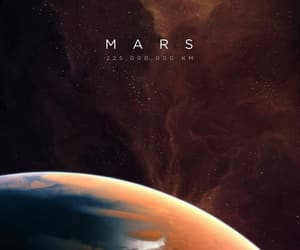 mars, space, and planet image
