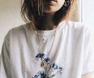 flowers, indie, and outfit image