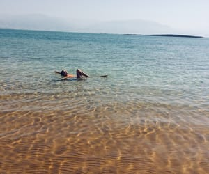 girl, summer, and dead sea image