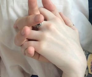hands, couple, and pale image