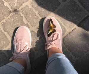 butterfly, jeans, and pink image