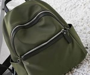 backpack, outfit, and verde image