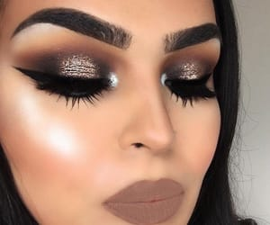 beauty, hair, and smokey eye image