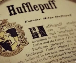 hufflepuff, hogwarts, and harry potter image