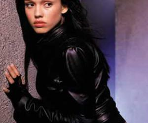 black, gloves, and hair image