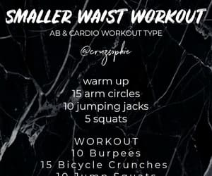 abs, cardio, and exercise image