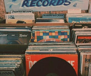 record, vintage, and aesthetic image