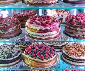 cake, fruit, and colors image