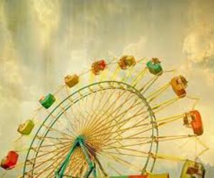 photography, ferris wheel, and vintage image
