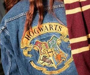hogwarts, jacket, and denim image