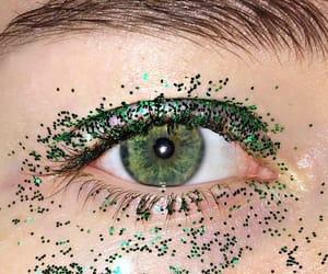 eye, eyelash, and glitter image