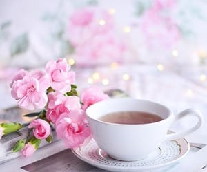 pastel, pink, and tea image