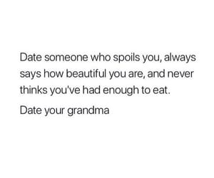 dating, funny, and grandma image
