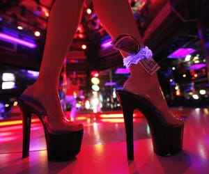 high heels, money, and stripper image