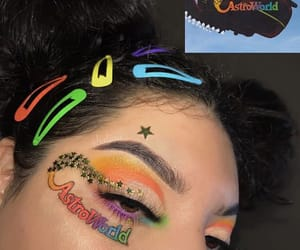 artist, colors, and makeup image
