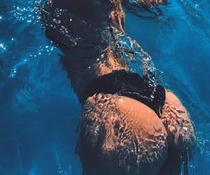 body, girl, and pool image