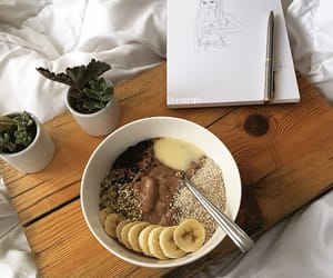 monday, motivation quotes, and smoothie bowl breakfast image