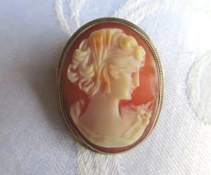 vintagevoguetreasure, etsy, and cameo jewelry image
