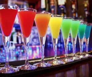 drink, night, and rainbow image