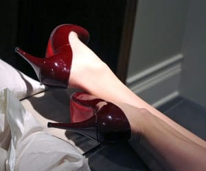 red, shoes, and aesthetic image