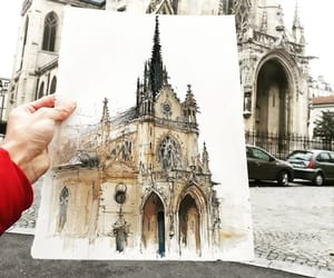 art, church, and Paper image