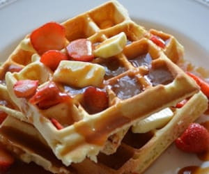 food, yummy, and waffles image