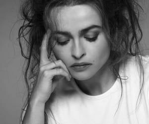 helena bonham carter, actress, and black and white image