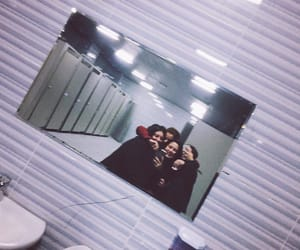bathroom, best friends, and fun image