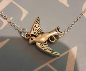 bird, book, and necklace image