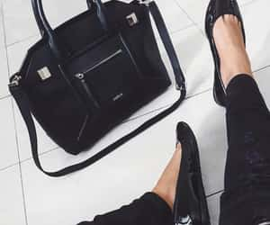 aesthetic, black shoes, and furla image