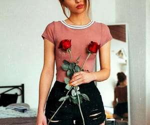 rose, girl, and outfit image
