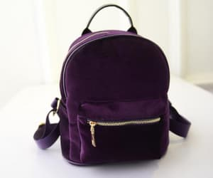 backpack, grunge, and purple image