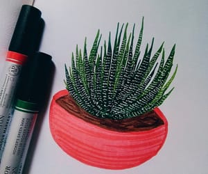 art, cactus, and drawing image
