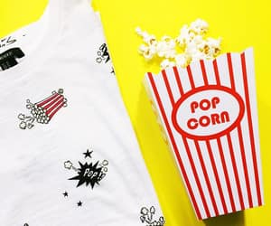 popcorn, red and white, and stripes image
