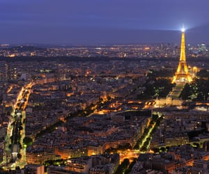 arc de triomphe, eiffel tower, and night image