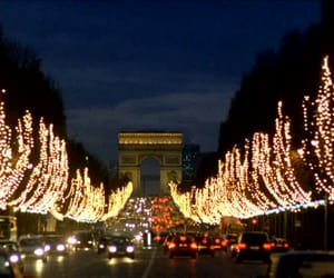 arc de triomphe, christmas, and night image