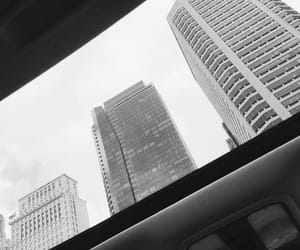 aesthetic, black and white, and buildings image