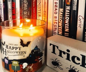 autumn, candle, and Halloween image