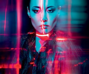 blue, cyberpunk, and light image
