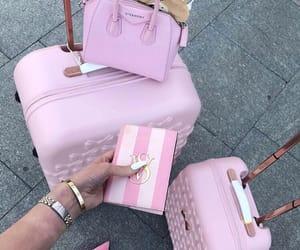 pink, travel, and bag image