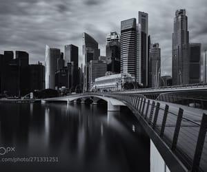 cityscape, dawn, and monochrome image