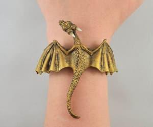 bracelet, dragon, and dragons image