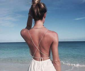 beach, sexy back, and girls image