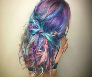 colored, colorful, and colorful hair image