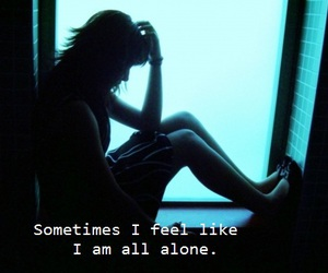 alone, girl, and lonelyness image